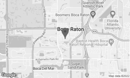 Map of 6000 Glades Road in Boca Raton