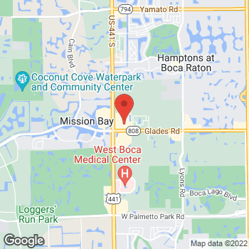 Map of Hair Cuttery at 9843 Glades Rd, Boca Raton, FL 33434