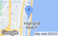 Map of Highland Beach, FL