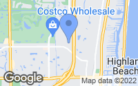Map of Highland Beach, FL
