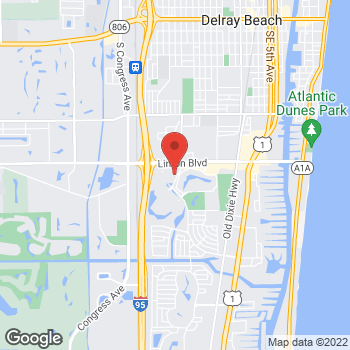 Map of Hair Cuttery at 1100 Linton Blvd Ste C6, Delray Beach, FL 33444