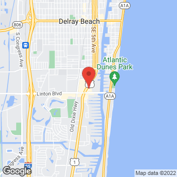 Map of Panera Bread at 1701 S Federal Highway, Delray Beach, FL 33483