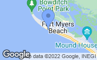 Map of Fort Myers Beach, FL