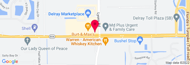 Map for Delray Marketplace Amphitheater