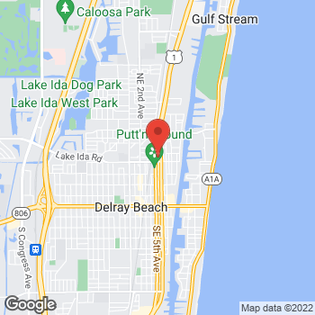 Map of Hair Cuttery at 455 Ne 5th Ave, Delray Beach, FL 33483
