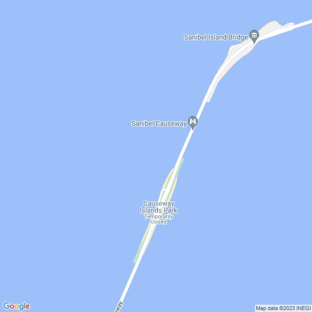 Map of Sanibel Causeway Bridge