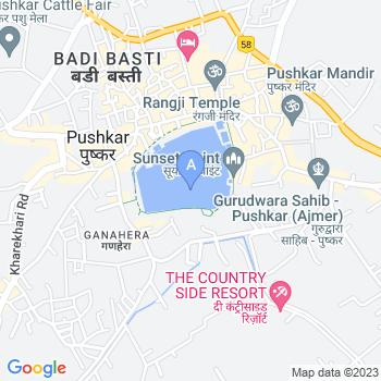 Location of Pushkar Lake