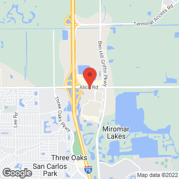 Map of Panera Bread at 9970 University Plaza Drive, Fort Myers, FL 33913