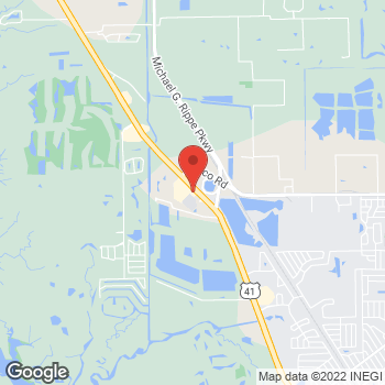 Map of Arby's at 16960 S. Tamiami Trail, Fort Myers, FL 33908