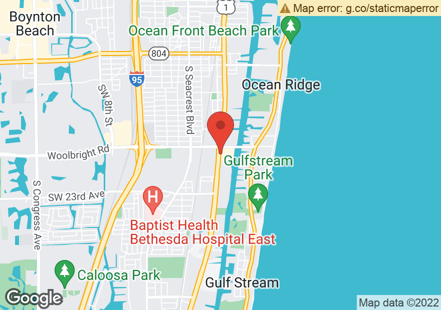 Google Map of 1634 S FEDERAL HWY