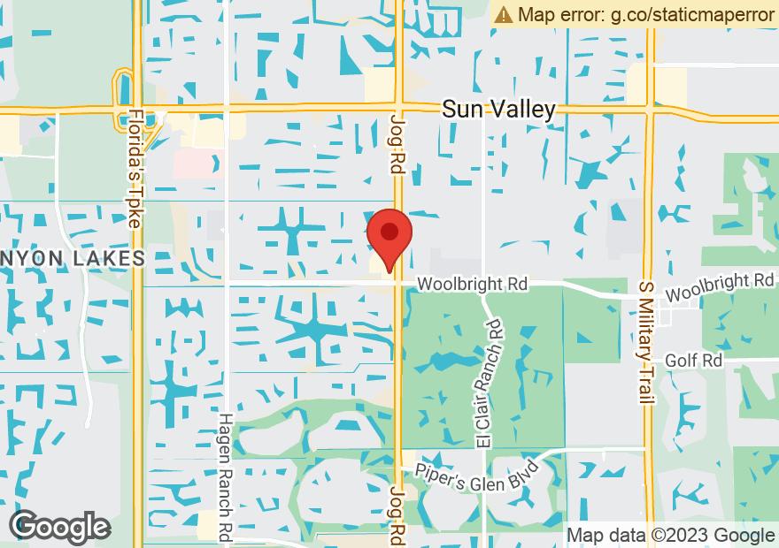 Google Map of 10951 S JOG RD