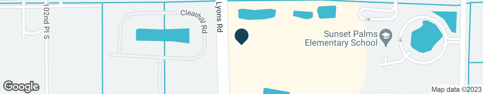 Google Map of10110 LYONS RD
