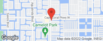 Map of 4903 Chiquita Blvd S in Cape Coral