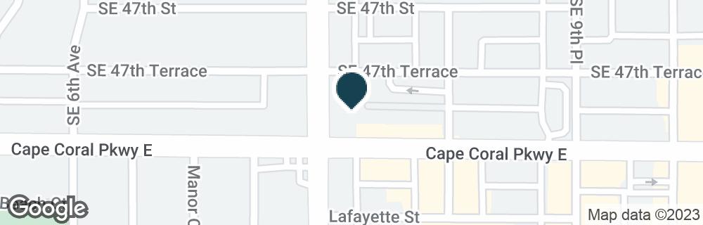 Google Map of805 CAPE CORAL PKWY E