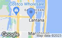 Map of Lantana, FL