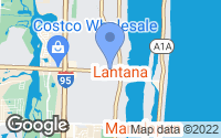 Map of Lantana, FL
