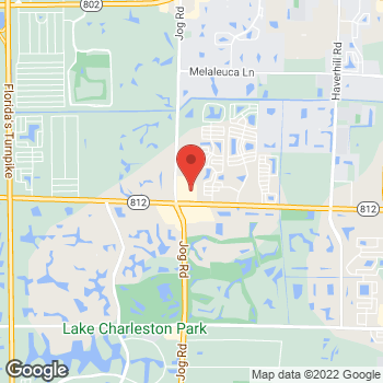 Map of Hair Cuttery at 5970 S Jog Road Suite B, Lake Worth, FL 33467