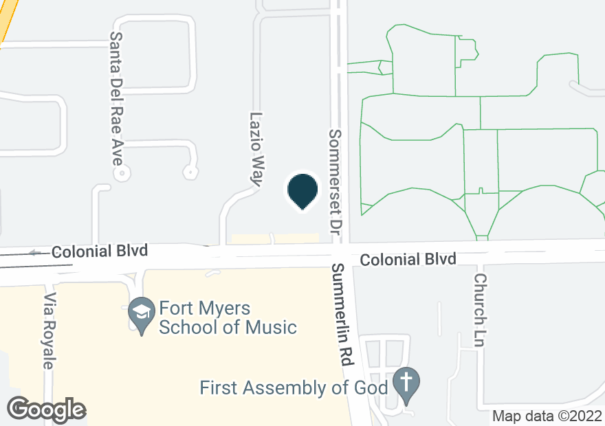 Google Map of1525 COLONIAL BLVD