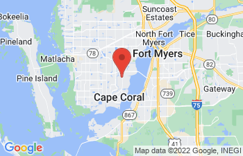 Map of Cape Coral