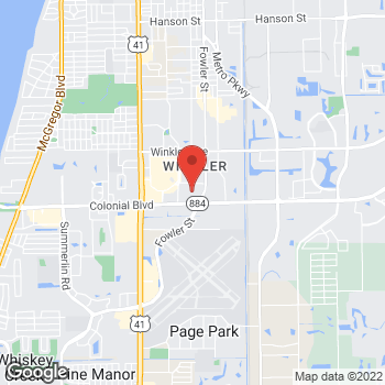 Map of Guitar Center at 4440 Fowler Street, Fort Myers, FL 33901