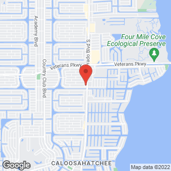 Map of Fifth Third Mortgage - Alicia Renner at 2724 Del Prado Boulevard South, Cape Coral, FL 33904-5700