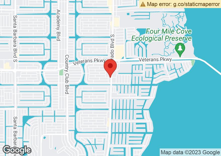 Google Map of 2710 DEL PRADO BLVD S