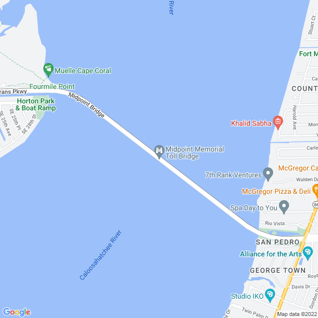 Map of Midpoint Memorial Bridge