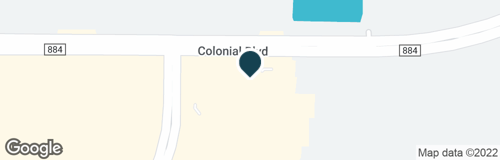 Google Map of10672 COLONIAL BLVD
