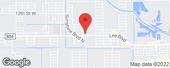 Map of 3114 Lee Blvd in Lehigh Acres