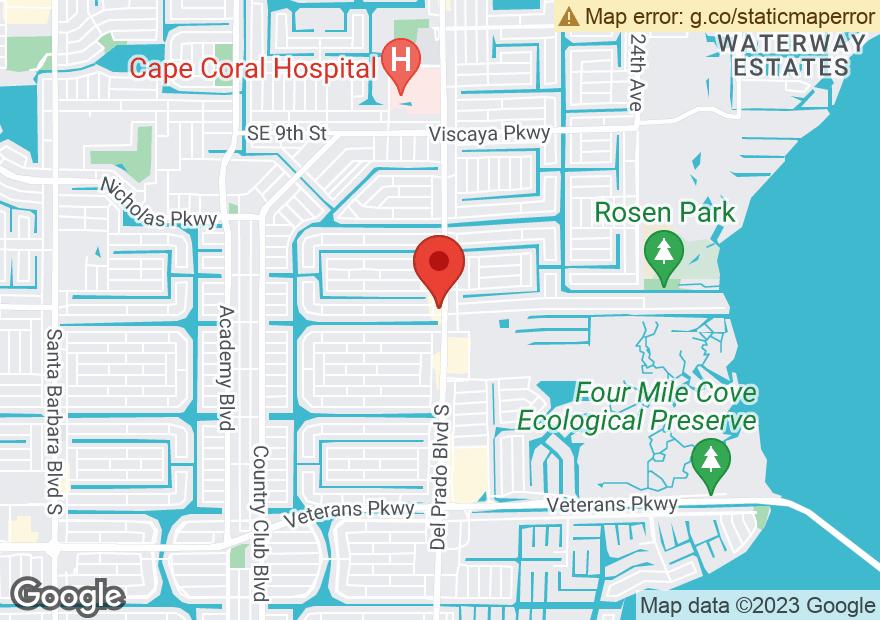 Google Map of 1606 DEL PRADO BLVD S