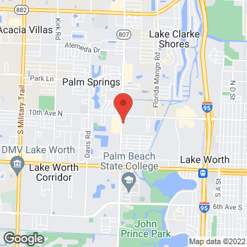 Map of Taco Bell at 3330 S Congress Ave, Lake Worth, FL 33461