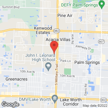 Map of Citi Trends at 2601-31 S Military Trail, West Palm Beach, FL 33415