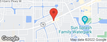 Map of 814 SW Pine Island Rd in Cape Coral