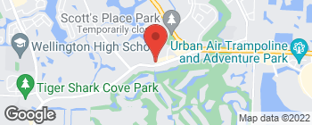 Map of 12180 South Shore Blvd in Wellington