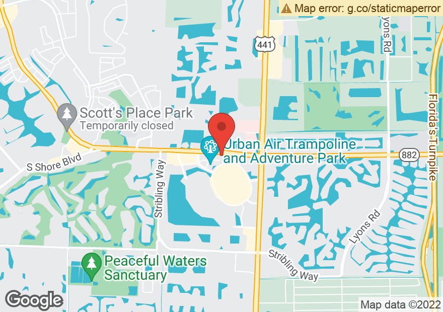 Google Map of 10420 FOREST HILL BLVD