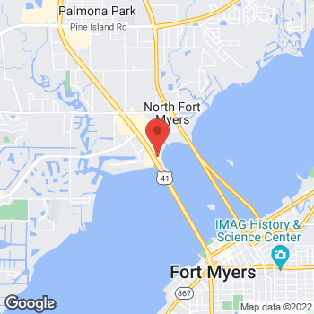 Map of Arby's at 13050 N Cleveland Ave, Fort Myers, FL 33903-4829