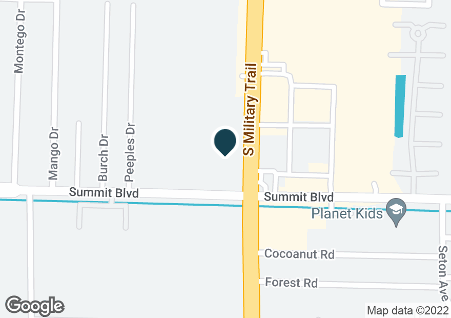 Google Map of963 S MILITARY TRL