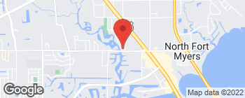 Mapa de 390 Pondella Rd en North Fort Myers