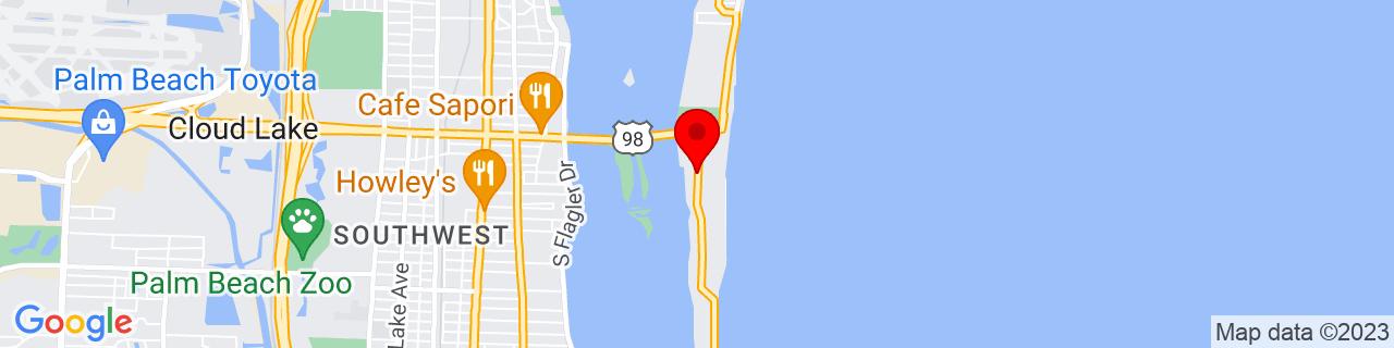 Google Map of 26.6729622, -80.03813869999999