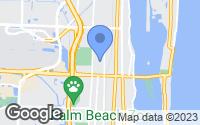 Map of West Palm Beach, FL