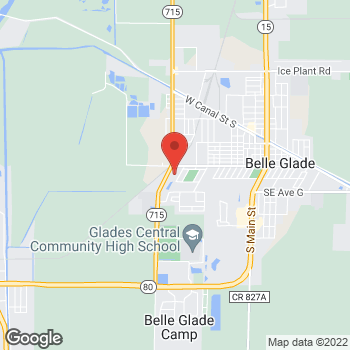 Map of Citi Trends at 545 SW 16th Street, Belle Glade, FL 33430