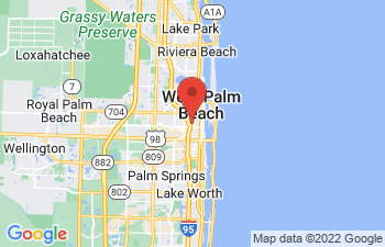 Map of Palm Beach