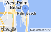 Map of Palm Beach, FL