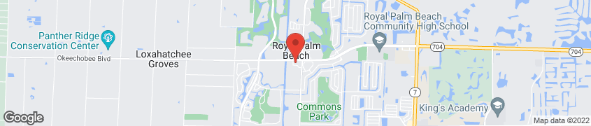Map of 300 CIVIC CENTER WAY in ROYAL PALM BEACH