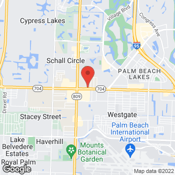 Map of Arby's at 4275 Okeechobee Blvd., West Palm Beach, FL 33409