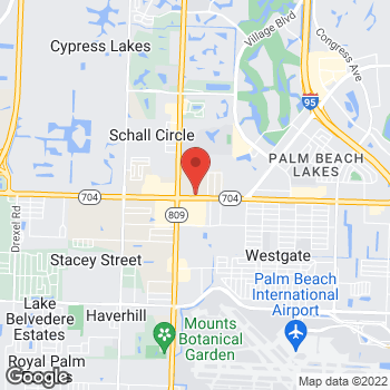 Map of Taco Bell at 4331 Okeechobee Blvd., West Palm Beach, FL 33409