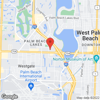 Map of Staples at 2029 Okeechobee Blvd, West Palm Beach, FL 33409