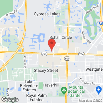 Map of Guitar Center at 5025 Okeechobee Boulevard, West Palm Beach, FL 33417