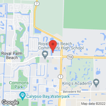 Map of Hair Cuttery at 10287 Okeechobee Blvd, West Palm Beach, FL 33411