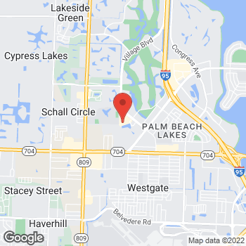 Map of Panera Bread at 771 Village Boulevard, West Palm Beach, FL 33409
